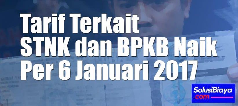 tarif baru stnk dan bpkb